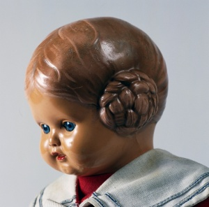 GERMANY - SEPTEMBER 19: Barbel, celluloid doll made by Rheinische Gummi und Celluloid Fabrik. Germany, 20th century. Detail. Germany (Photo by DeAgostini/Getty Images)